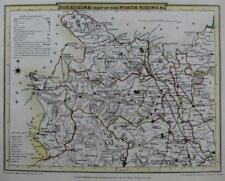 YORKSHIRE RICHMOND BY ROPER & COLE  GENUINE ANTIQUE MAP WITH HAND COLOUR  c1810