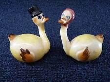 Vintage Salt & Pepper Shakers Japan Anthropomorphic Swans Birds (pt321)