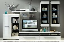 Living room Furniture Set Gloss Tv Units Cupboard Display Cabinets Shelves Led