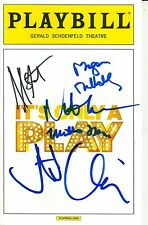 It's Only A Play signed Playbill megan mullally nathan lane stockard channing