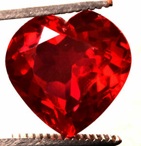 5.15 Cts. Natural Mozambique Red Ruby Heart Shape Certified Gemstone