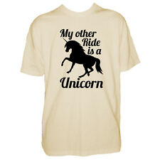 Mens Horse T Shirt - Other Rides A Unicorn - Equestrian Funny - Pony Tshirt