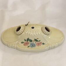 Vintage Porceliers Porcelain 2-Bulb Ceiling Light Fixture, (AKE84)