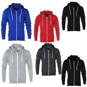 AARHON Mens Boys  Sweatshirt Plain American Hooded Fleece Zip Up-5062