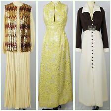 Vintage Dress Lot : 70s 1970s Maxi Dresses : 3 Maxi Dresses Sequins Gold Lame
