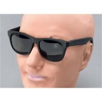 Black Gangster Sunglasses - Fancy Dress Glasses Blues Brothers Accessory Shades