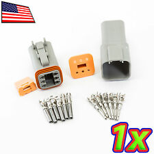 Deutsch DT04 DT06 2x3P 6P Plug Socket IP67 14AWG 13A Rugged Automotive Connector