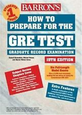 How to Prepare for the GRE Test by Sharon Green and Ira K. Wolf (2003,...