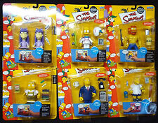 Simpsons TV Playmates Series 8  Action Figure Set of 6 New from 2002 Bart Uter