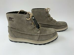 NEW SOREL Madison Caribou Suede Chukka Ankle Boots Men's Size 10 Waterproof Gray