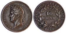 GUADELOUPE  , LOUIS  PHILIPPE  10   CENTIMES  1839  A  PARIS