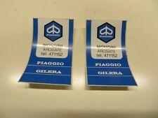 """Orig.Italian PIAGGIO VESPA Dealer Stickers X 2"""" MONDINI """" Arcisate N.O.S ULMA"""