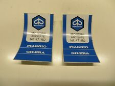 "ORIGINAL Italie PIAGGIO VESPA Distributeur Stickers x 5.1cm Mondini "" arcisate"