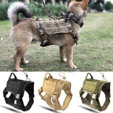 Nylon Police K9 Tactical Training Dog Vest Harness Military Adjustable Molle