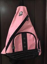 Crocs Rare Diaper Bag Sling Pink & black with jibbitz portals Hands Free #387