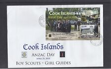 Cook Islands 2010 ANZAC Day Boy Scouts Girl Guide Visit of Baden Powell MS FDC