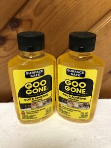 Lot Of 2 GOO GONE Adhesive Sticky Remover 3oz Each Bottle New