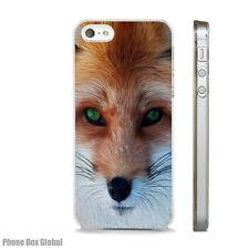 BEAUTIFUL FOX FACE CLEAR RIM CASE FITS IPHONE 4S 5 5S 5C 6 6S 7 8 SE X PLUS