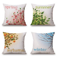Cotton Linen Car Sofa Bed Decor Waist Cushion Pillow Case Cover Home Decoration