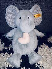 "11"" STEIFF ELEPHANT With HEART PLUSH STUFFED ANIMAL DOLL SOFT CHILDRENS KIDS TOY"