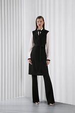 NEW St. John Resort 2014 Black Milano Knit Vest Full Lenght Open 6