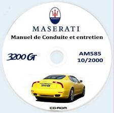 Manuel de Conduite et entretien,Maserati 3200 GT (AM585) TEXT Française
