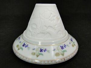 Belle petite lampe lithophanie porcelaine Limoges Haviland Impératrice Eugénie