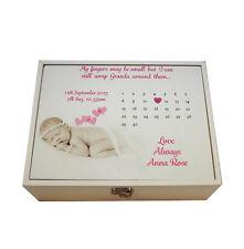 Large Personalised Baby memory Keepsake box,Birthday, Memory Box, Gift