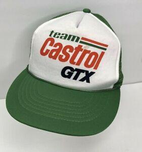 Vintage Trucker SnapBack Foam Team Castrol GTX HAT / CAP NHRA Gas & Oil Retro