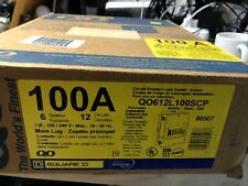 Square D Qo 100 Amp 6-Space 12-Circuit Indoor Main Lug Load Center with Surface