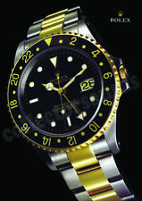 ROLEX GMT Master II mens watch advertisement A4 size high quality print