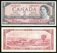 CANADA 1954 BANK OF CANADA 2 $ DOLLARS BANK NOTE * BEATTIE-RASMINSKY ***