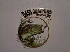 "Fishing Box or Car vinyl Sticker ""Bass Jumpers drop a line"""