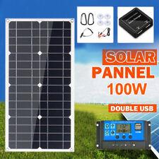Solar Set Solarpanel Solarmodul 100W 100Watt 18V Solarzelle Wohnmobil Wohnwagen