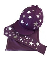 Cross Country Colours Base layer/Silk,Purple with Silver Stars