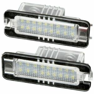 LED Warm White Number Plate Light Set For Porsche 911 Boxster Cayenne Cayman