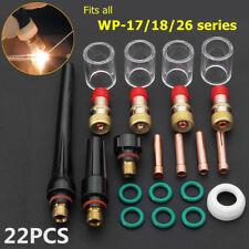 22x Tig Torche de soudage COLLET gaz verres #10 pyrex Tasse Kit pour wp-17 /
