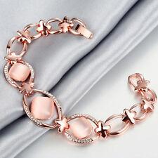 Unbranded Crystal Rose Gold Plated Fashion Bracelets