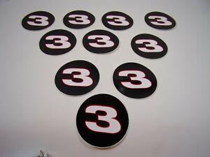 "NEW 1990'S NASCAR DALE EARNHARDT SR #3 LOGO 3"" ROUND STICKER DECAL LOT OF 10"
