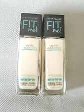2 MAYBELLINE FIT ME FOUNDATION MATTE + PORELESS normal to oily 110 PORCELAIN