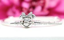 Authentic Pandora Disney Shimmering Minnie Portrait Silver Bracelet 597770CZ
