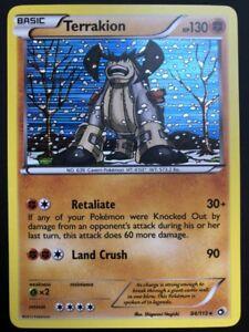 Carte Pokemon TERRAKION 84/113 Holo Legendary Treasures English NEUF