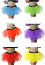 NEON TUTU Skirt Fancy Dress Hen Party Fun Run 3 LAYER 80S FESTIVALS ONE SIZE