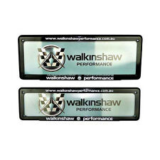 HSV WALKINSHAW PERFORMANCE NUMBER PLATE COVER SLIM FRONT 3/4 REAR