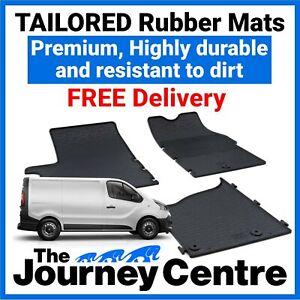 Renault Trafic 2014 on - Tailored Front Rubber Floor Mats Premium Van Mats