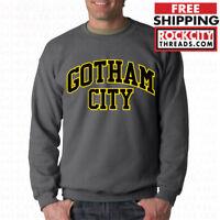 0b0800f7a BATMAN GOTHAM CITY ORIGINAL CHARCOAL CREW NECK Sweatshirt DC Comics Joker  Robin