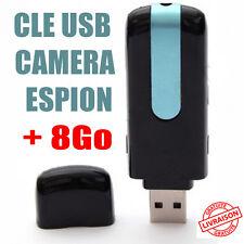 Clé USB Caméra Espion Détecteur de Mouvement + 8 carte sd 8go dictaphone micro