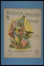 308032 America Forever mars 1898 A4 papier photo