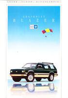 1992 Chevrolet Blazer Sales Brochure Catalog German