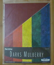 30 Sheets Darks Mulberry Paper 5 Colors New FREE SHIPPING
